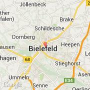 Carte Allemagne Bielefeld.Villes Co Bielefeld Allemagne Nordrhein Westfalen