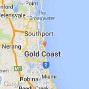 Carte Australie Surfers Paradise.Villes Co Surfers Paradise Australie Queensland Gold