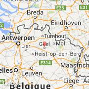 Carte Belgique Geel.Villes Co Geel Belgique Region Flamande Anvers