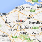 Kuurne Carte Belgique.Villes Co Kuurne Belgique Region Flamande Flandre