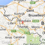 Carte Kain Belgique.Villes Co Tournai Belgique Region Wallonne Hainaut