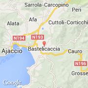 Carte Corse Bastelicaccia.Villes Co Bastelicaccia France Corse Corse Du Sud