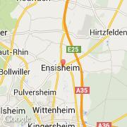 Carte Alsace Ensisheim.Villes Co Ensisheim France Alsace Haut Rhin
