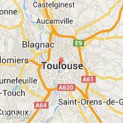 Toulouse Karte.Stadte Co Toulouse Frankreich Midi Pyrénées Besuchen Sie Die