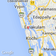 Carte Inde Kochi.Villes Co Kochi Inde Kerala Visiter La Ville Carte