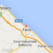 Carte Italie Pesaro.Villes Co Fano Italie Marche Pesaro E Urbino