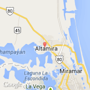 Silver Style Simple Map of Lag. Altamira   Altamira Mexico Map