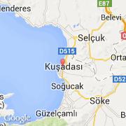 Carte Turquie Kusadasi.Villes Co Kusadasi Turquie Ege Aydin Visiter La